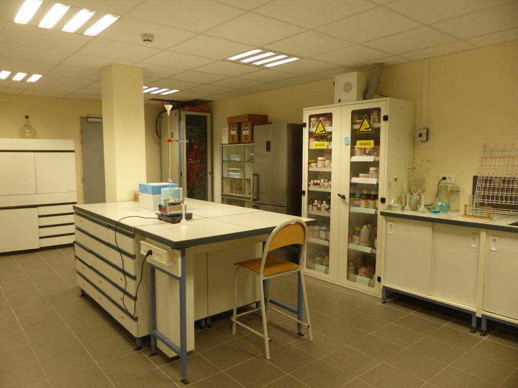 Vue d'ensemble de la salle de préparation